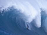 Surfer Riding Giant Wave Photographic Print by David Pu'u