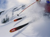 Skier Performing Sharp Turn Photographic Print by Doug Berry