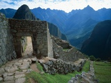 Archaeological Ruins on Machu Picchu Hillside Photographic Print by Jim Zuckerman