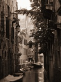 Apartments Along Narrow Canal Photographic Print