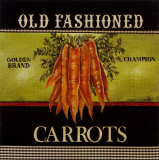 Old Fashioned Carrots Posters by Kimberly Poloson