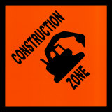 Sign, Construction Zone Print