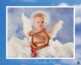Heavenly Kids Harp Poster by Tom Arma