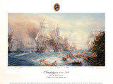 Battle of Trafalgar at 2:30 PM Giclee Print by William Lionel Wyllie