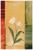 Two White Tulips Posters by Fernando Leal