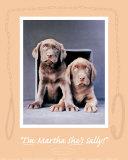 Martha and Sally Plakater af Rachael Hale