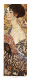 Lady with Fan Kunst van Gustav Klimt