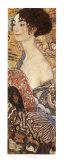 Mujer con abanico Arte por Gustav Klimt