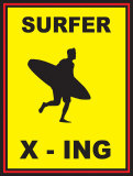 Surfer Crossing Posters