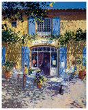 La Terrasse de Cafe Poster by Laurent Parcelier