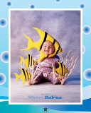 Baby Yellow Fish Prints by Tom Arma