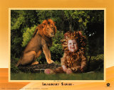 Lion de safari imaginaire Affiches par Tom Arma
