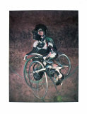Georges, una bicicleta Lámina por Francis Bacon