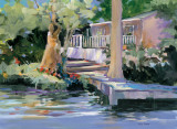 Mt. Dora Canal House Print by Jane Slivka