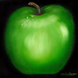 Green Apple Posters by Nelly Arenas