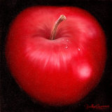 Red Apple Posters by Nelly Arenas