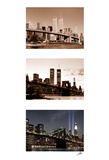 World Trade Center Memorial Triptych Posters by Igor Maloratsky