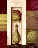 Pink and Green Hydrangea Study II Prints by Lisa Audit