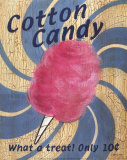 Fair Time Cotton Candy Posters by Louise Max