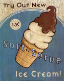 Soft Serve Ice Cream Posters by Louise Max
