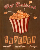 Hot Buttered Popcorn Poster von Louise Max