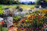 Elaine's Garden I Print by Carol Elizabeth