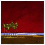 Red Sunset I Prints by Katie De La Cruz