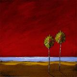 Red Sunset II Print by Katie De La Cruz