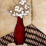 Red Vase Prints by Judi Bagnato
