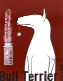 Bull Terrier Tea Posters van Ken Bailey