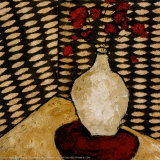 White Vase Art by Judi Bagnato