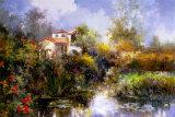 Serenity Pond Print by Joseph Kim