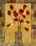 Red Flowers Prints by Judi Bagnato