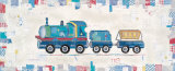 Blue Construction Train Posters by Katherine &amp; Elizabeth Pope