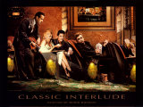 Chris Consani, klassiek intermezzo, met James Dean, Elvis Presley, Marilyn Monroe en Humphrey Bogart, titel: Classic Interlude Poster van Chris Consani
