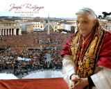 Pope Benedict XVI - Horiz.(Crowd) Photo