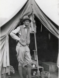 Hiram Bingham Poses for an Informal Picture before His Tent Photographic Print by Hiram Bingham