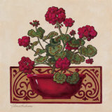 Red Geraniums I Print by Gloria Eriksen