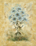 Blue Blooms I Print by Richard Henson