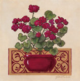 Red Geraniums II Posters by Gloria Eriksen