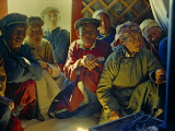 Gobi Desert Dwellers Listen Intently to a Visitor Photographic Print by Dean Conger