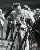 Lou Gehrig 4 at his retirement ceremony on July 4, 1939. Photographie