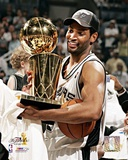 NBA: Robert Horry with the 2005 NBA Championship Trophy Photo