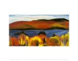Lake George, jesień, 1927 (Lake George, Autumn, 1927) Reprodukcje autor Georgia O'Keeffe