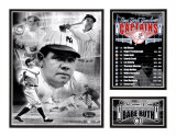 Babe Ruth - Yankees Captain Impression avec bordure