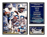 Barry Sanders - NFL Hall Of Fame Impression avec bordure