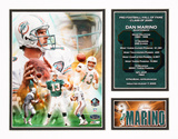Dan Marino - NFL Hall Of Fame Impression avec bordure