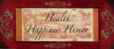 Words to Live By, Traditional: Health Print by Debbie DeWitt