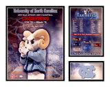 University Of North Carolina - 2005 NCAA Champions Matted Print