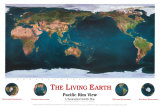 The Living Earth -  Pacific Rim View Plakat